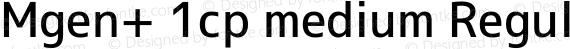 Mgen+ 1cp medium Regular preview image