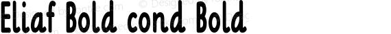 Eliaf Bold cond Bold preview image