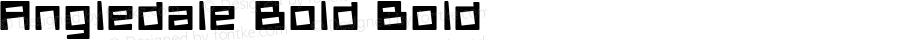 Angledale Bold Bold Version 1.000