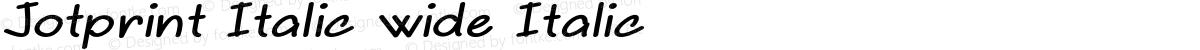 Jotprint Italic wide Italic