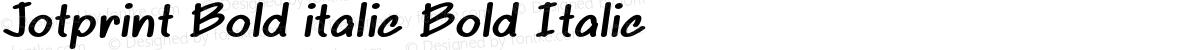 Jotprint Bold italic Bold Italic