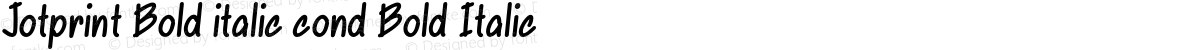 Jotprint Bold italic cond Bold Italic