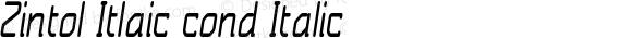 Zintol Itlaic cond Italic Version 1.000