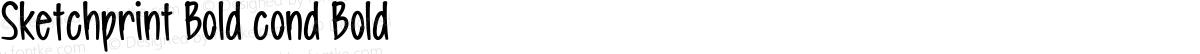 Sketchprint Bold cond Bold