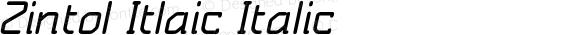 Zintol Itlaic Italic Version 1.000