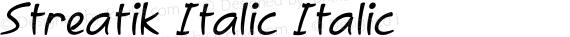 Streatik Italic Italic preview image