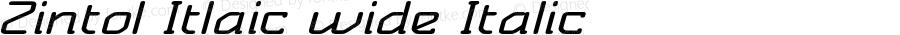 Zintol Itlaic wide Italic Version 1.000
