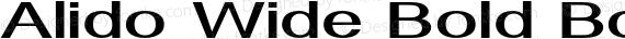 Alido Wide Bold Bold preview image