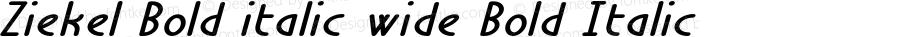 Ziekel Bold italic wide Bold Italic Version 1.000