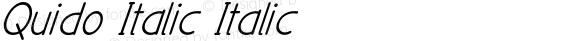 Quido Italic Italic