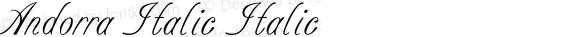 Andorra Italic Italic Version 1.000