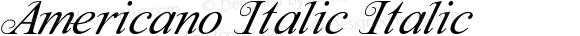 Americano Italic Italic Version 1.000