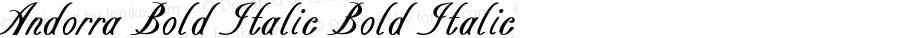 Andorra Bold Italic Bold Italic Version 1.000