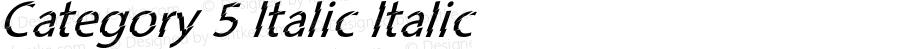 Category 5 Italic Italic Version 1.000