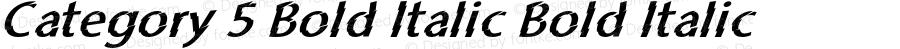 Category 5 Bold Italic Bold Italic Version 1.000