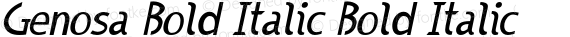 Genosa Bold Italic Bold Italic preview image