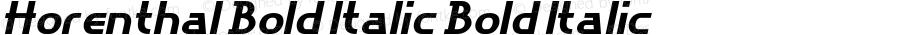 Horenthal Bold Italic Bold Italic Version 1.000