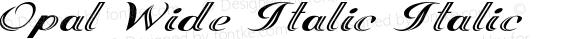 Opal Wide Italic Italic Version 1.000