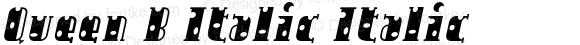 Queen B Italic Italic