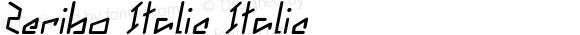 Zeribo Italic Italic Version 1.000