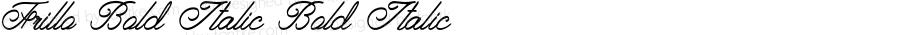 Frillo-BoldItalic
