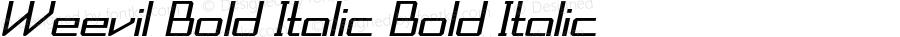 Weevil-BoldItalic