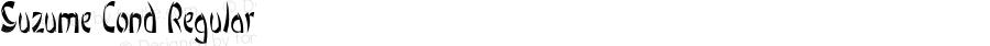 Suzume-CondensedRegular