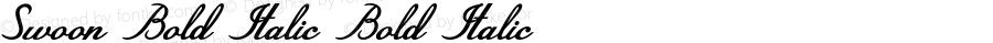 Swoon-BoldItalic