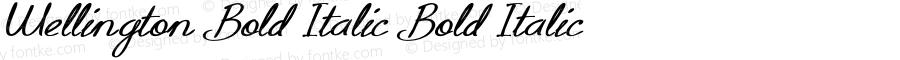 Wellington-BoldItalic