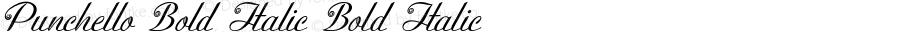 Punchello-BoldItalic