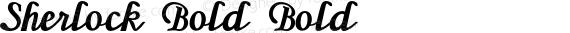 Sherlock Bold Bold preview image