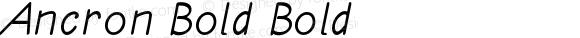 Ancron Bold Bold Version 1.000