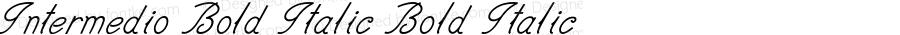 Intermedio-BoldItalic