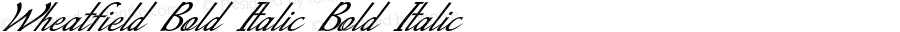 Wheatfield-BoldItalic