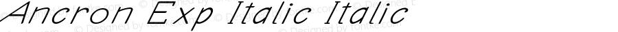Ancron Exp Italic Italic Version 1.000