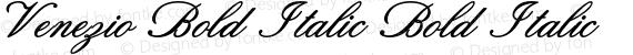 Venezio Bold Italic Bold Italic preview image
