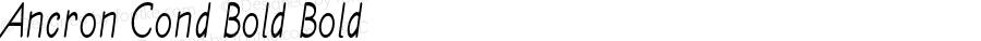 Ancron Cond Bold Bold Version 1.000