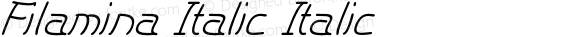 Filamina Italic Italic preview image