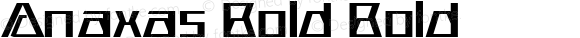 Anaxas Bold Bold Version 1.000