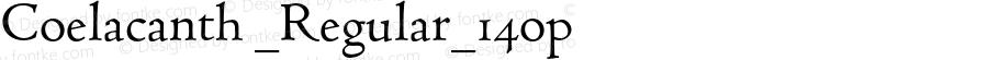 Coelacanth _Regular_14op Version 000.002