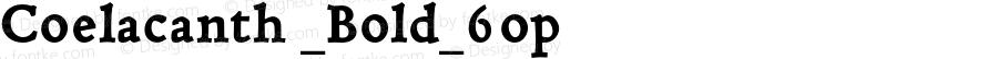Coelacanth _Bold_6op Version 000.002