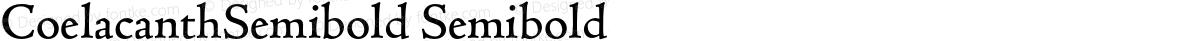 CoelacanthSemibold Semibold