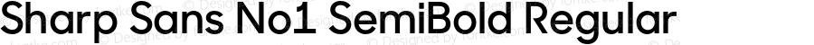 Sharp Sans No1 SemiBold Regular Version 1.000;PS 001.001;hotconv 1.0.56