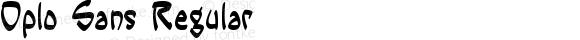 Oplo Sans