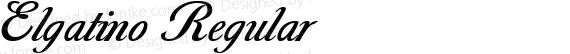 Elgatino Regular preview image