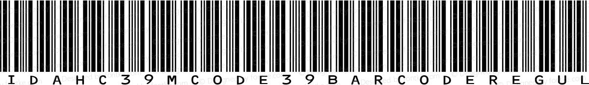 IDAHC39M Code 39 Barcode Regular