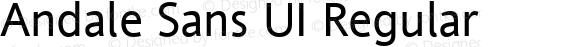 Andale Sans UI Regular preview image