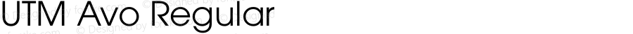 UTM Avo Regular Bộ Font chữ Việt sử dụng bảng mã Unicode