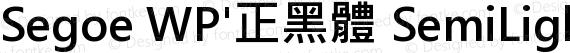 Segoe WP'正黑體 SemiLight Bold preview image