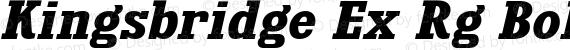 Kingsbridge Ex Rg Bold Italic preview image